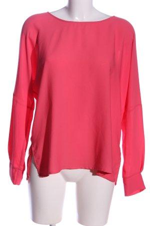 Zara Woman Langarm-Bluse pink Casual-Look