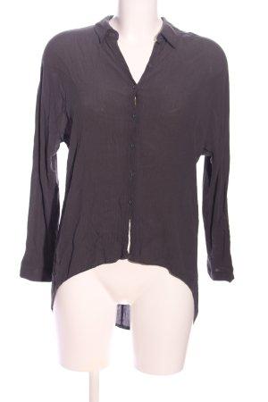 Zara Woman Langarm-Bluse braun Business-Look