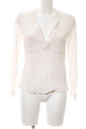 Zara Woman Langarm-Bluse wollweiß Casual-Look