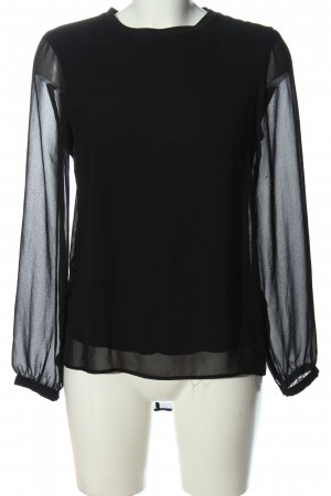 Zara Woman Langarm-Bluse schwarz Business-Look