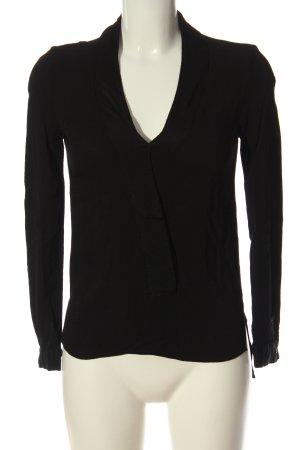 Zara Woman Langarm-Bluse schwarz Casual-Look