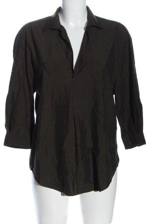 Zara Woman Langarm-Bluse bronzefarben Business-Look