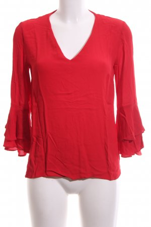 Zara Woman Langarm-Bluse rot Casual-Look