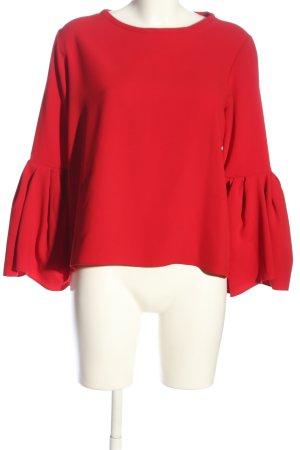 Zara Woman Langarm-Bluse rot Elegant