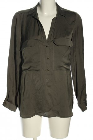 Zara Woman Langarm-Bluse khaki Business-Look