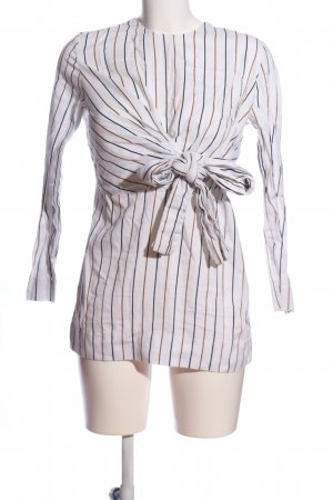 Zara Woman Langarm-Bluse Streifenmuster Business-Look