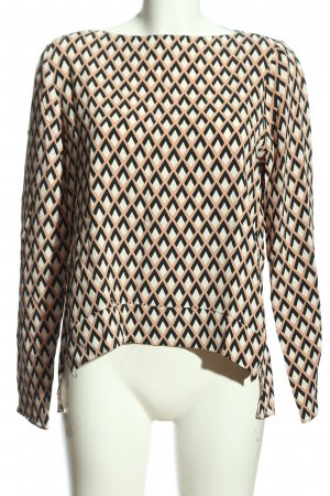Zara Woman Langarm-Bluse grafisches Muster Casual-Look