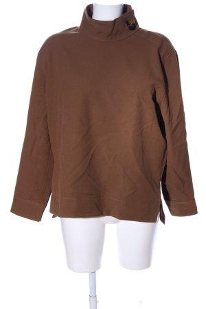 Zara Woman Langarm-Bluse braun Casual-Look