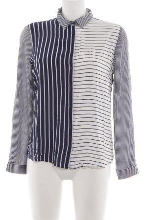 Zara Woman Langarm-Bluse schwarz-weiß Streifenmuster Business-Look