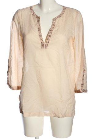 Zara Woman Langarm-Bluse creme Casual-Look