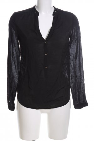 Zara Woman Langarm-Bluse schwarz Business-Look