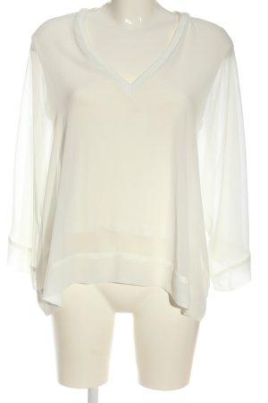 Zara Woman Langarm-Bluse creme Elegant
