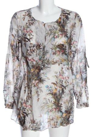 Zara Woman Langarm-Bluse Allover-Druck Casual-Look