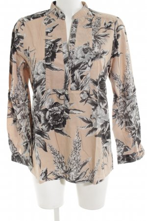 Zara Woman Langarm-Bluse Allover-Druck Business-Look
