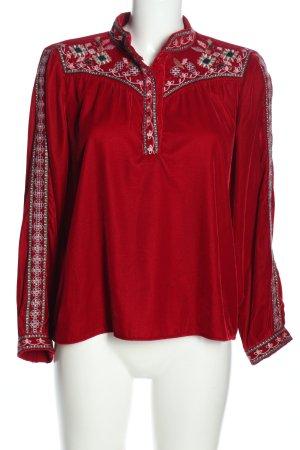 Zara Woman Langarm-Bluse mehrfarbig Elegant
