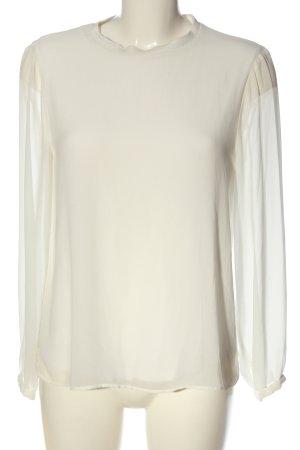 Zara Woman Langarm-Bluse wollweiß Elegant