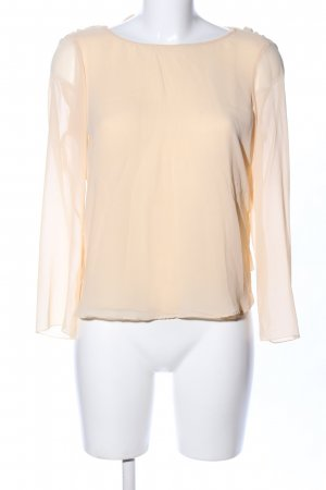 Zara Woman Langarm-Bluse creme Business-Look