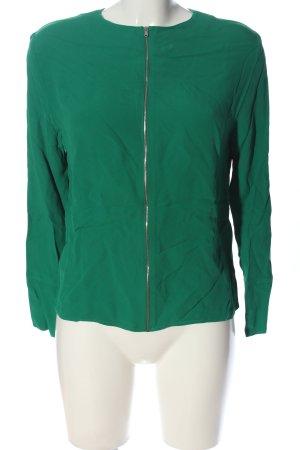 Zara Woman Langarm-Bluse grün Casual-Look
