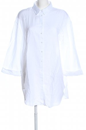 Zara Woman Langarm-Bluse weiß Casual-Look