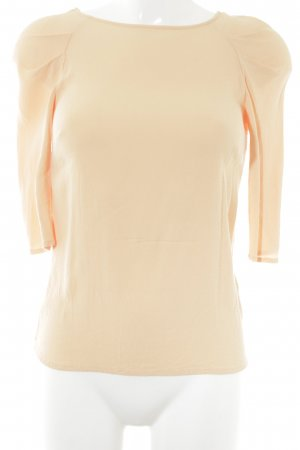 Zara Woman Langarm-Bluse hellorange Casual-Look