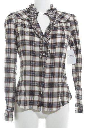 Zara Woman Langarm-Bluse Karomuster Casual-Look
