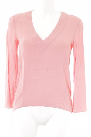 Zara Woman Langarm-Bluse lachs Casual-Look
