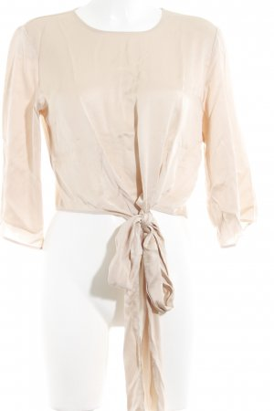 Zara Woman Langarm-Bluse nude Glanz-Optik