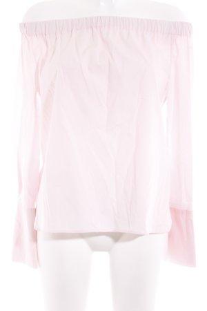 Zara Woman Langarm-Bluse rosé Casual-Look