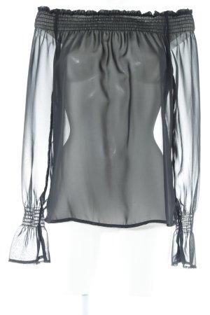 Zara Woman Langarm-Bluse schwarz