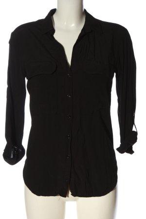 Zara Woman Langarmhemd schwarz Casual-Look