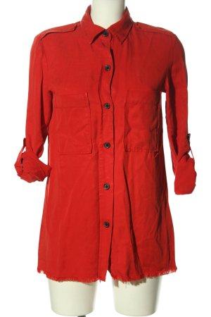 Zara Woman Langarmhemd rot Casual-Look
