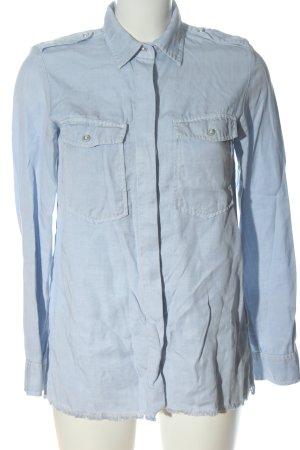 Zara Woman Langarmhemd blau Business-Look