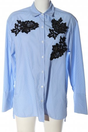 Zara Woman Langarmhemd Streifenmuster Casual-Look
