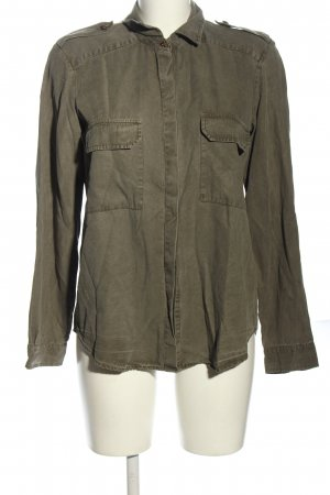 Zara Woman Langarmhemd khaki Casual-Look