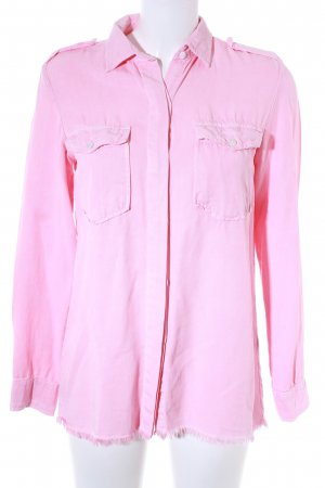 Zara Woman Langarmhemd rosa Casual-Look