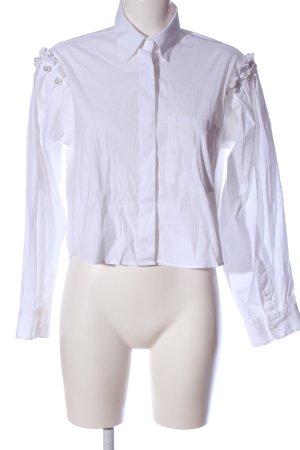 Zara Woman Langarmhemd weiß Casual-Look