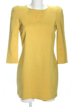 Zara Woman Langarmkleid blassgelb Elegant