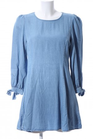 Zara Woman Langarmkleid blau Casual-Look