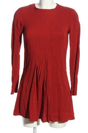 Zara Woman Langarmkleid rot Elegant