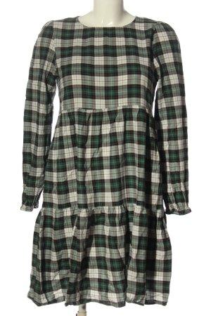 Zara Woman Langarmkleid Karomuster Casual-Look