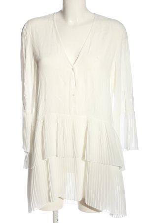 Zara Woman Langarmkleid wollweiß Business-Look