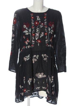 Zara Woman Langarmkleid Blumenmuster Casual-Look