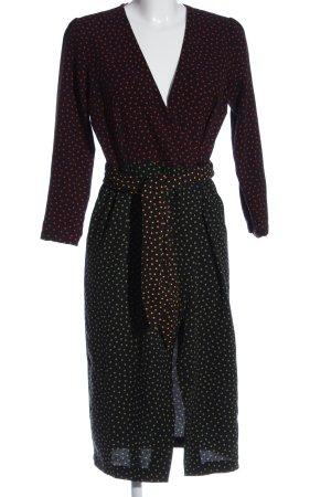 Zara Woman Langarmkleid Punktemuster Casual-Look