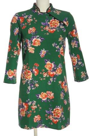 Zara Woman Langarmkleid Allover-Druck Business-Look