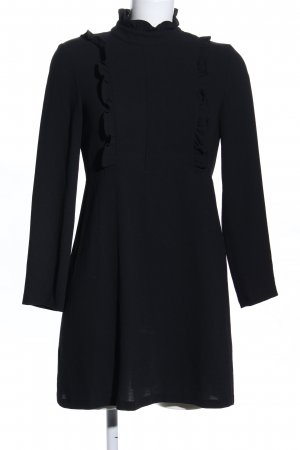 Zara Woman Langarmkleid schwarz Business-Look