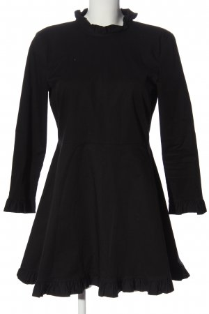 Zara Woman Langarmkleid schwarz Casual-Look