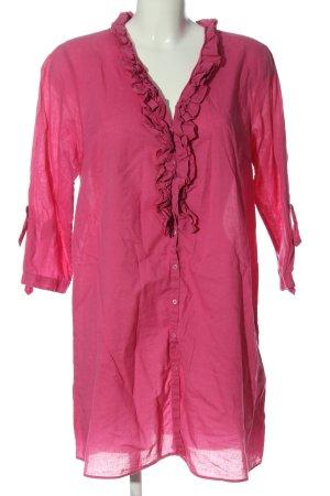 Zara Woman Langarmkleid pink Casual-Look