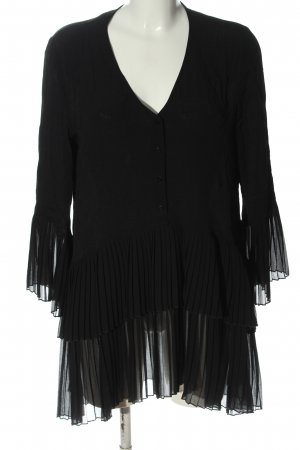 Zara Woman Langarmkleid schwarz Elegant