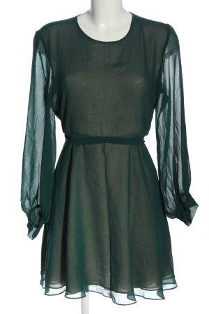 Zara Woman Langarmkleid grün Casual-Look