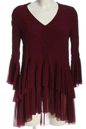 Zara Woman Langarmkleid braun Casual-Look
